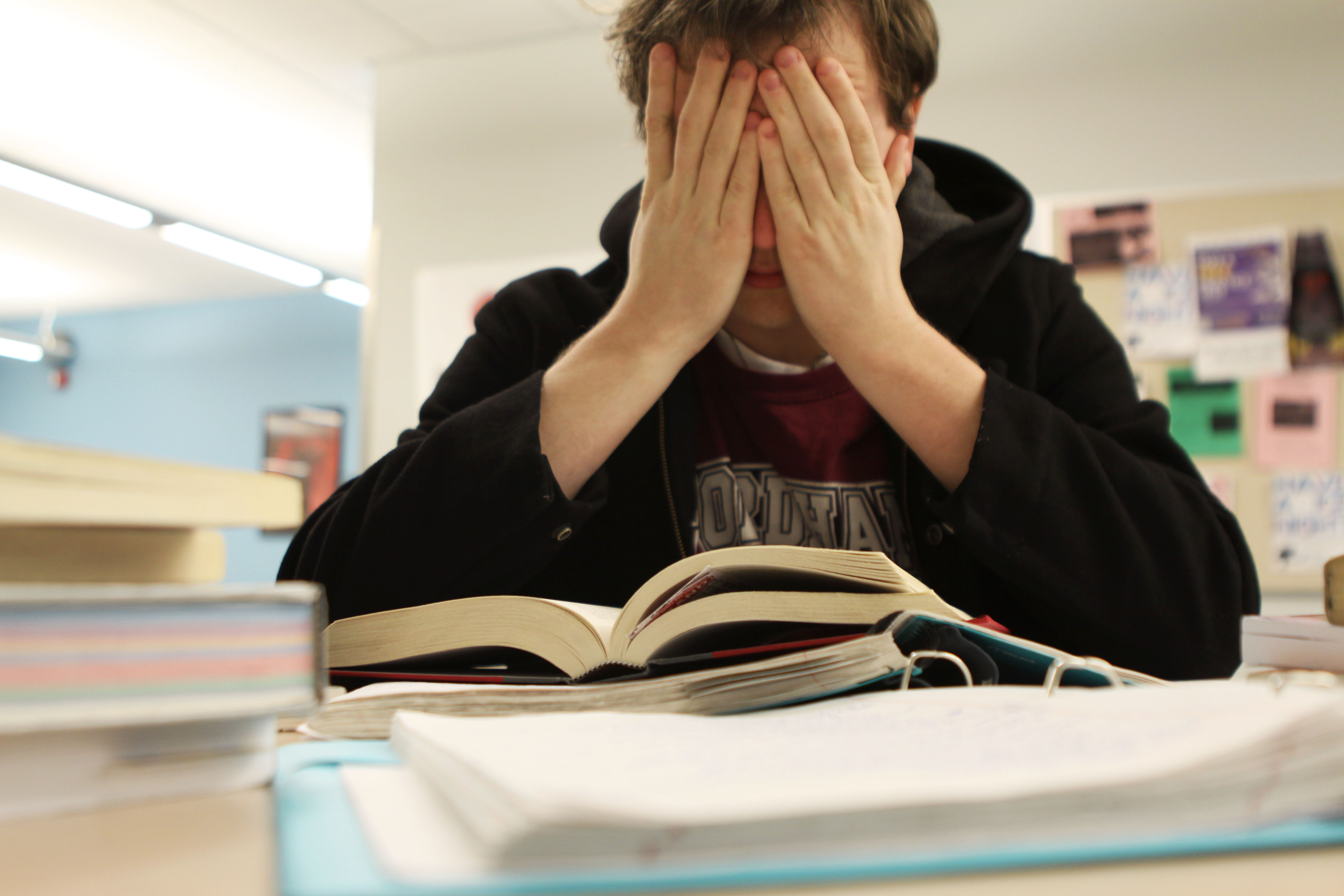 stres examen
