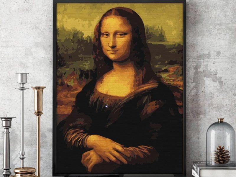 pictura pe numere mona lisa de la pictorul fericit